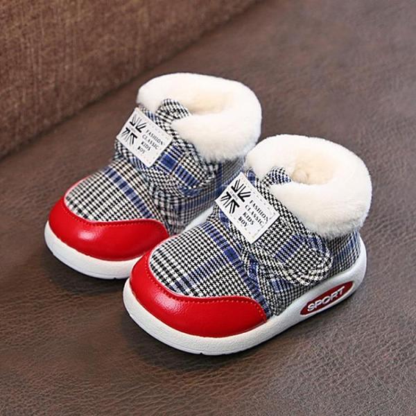 學步鞋 秋冬1-2-3歲學步鞋鞋男寶寶棉鞋帆布鞋 幼童鞋女寶寶鞋雪地靴【快速出貨八折下殺】