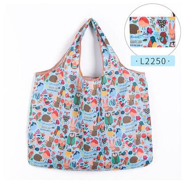 防水袋 日本折疊購物袋輕薄便攜環保袋女手提袋防水大容量超市買菜包結實【快速出貨八折搶購】