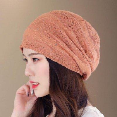 頭巾帽 春夏薄款透氣鏤空夾花包頭帽夏季遮白髮頭巾帽睡帽空調月子帽吸汗
