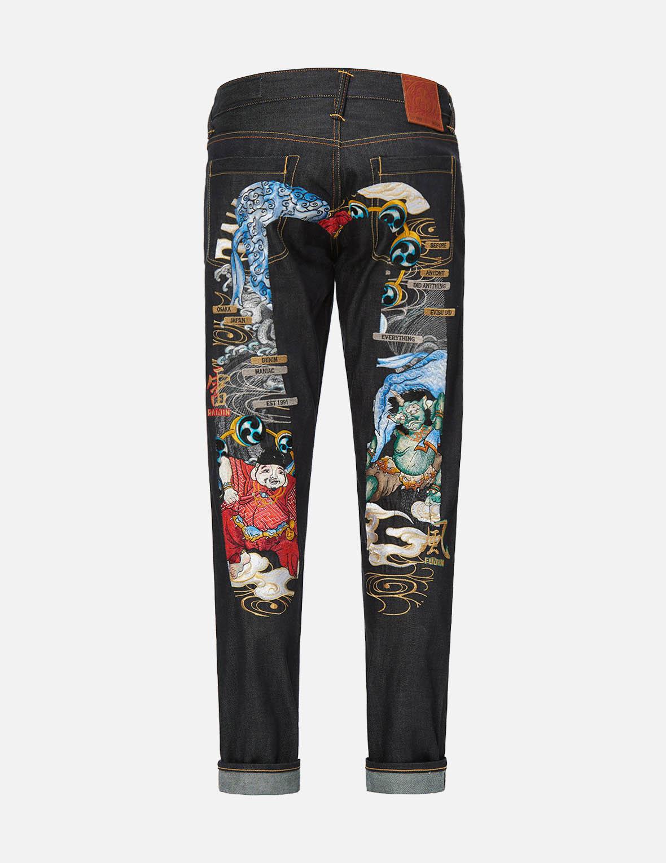 Raijin-Fujin Daicock Embroidered Carrot Fit Jeans #2017