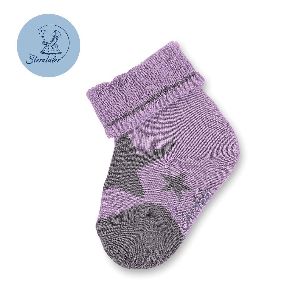 STERNTALER 厚底寶寶襪子-星星紫(6cm)  C-8301613-636