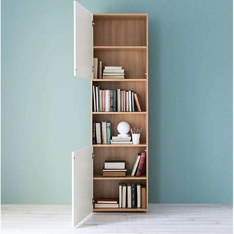 涼涼小店書柜 簡約 現代 單個 多功能 創意 北歐 帶門 書架 書櫥 CD架 儲物柜 收納柜 角柜 涼涼小店