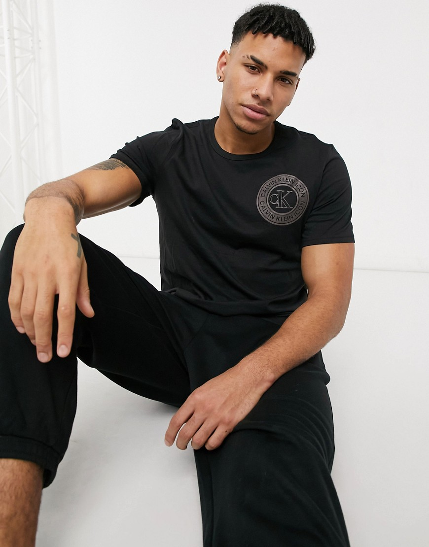 Calvin Klein logo crew neck t-shirt in black