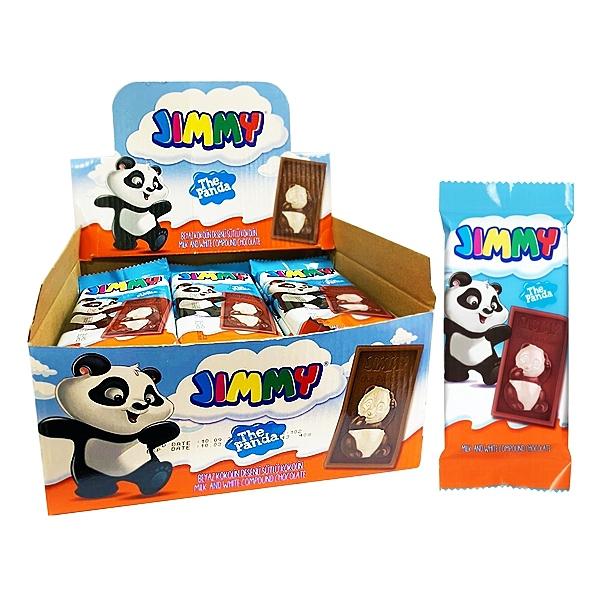 土耳其 Tayas 塔雅思 Jimmy熊貓代可可脂巧克力40gx24片(盒裝)【小三美日】
