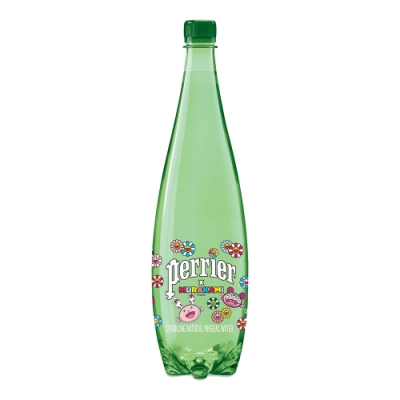 法國沛綠雅Perrier 氣泡天然礦泉水村上隆經典版(寶特瓶)(1000mlx12入)