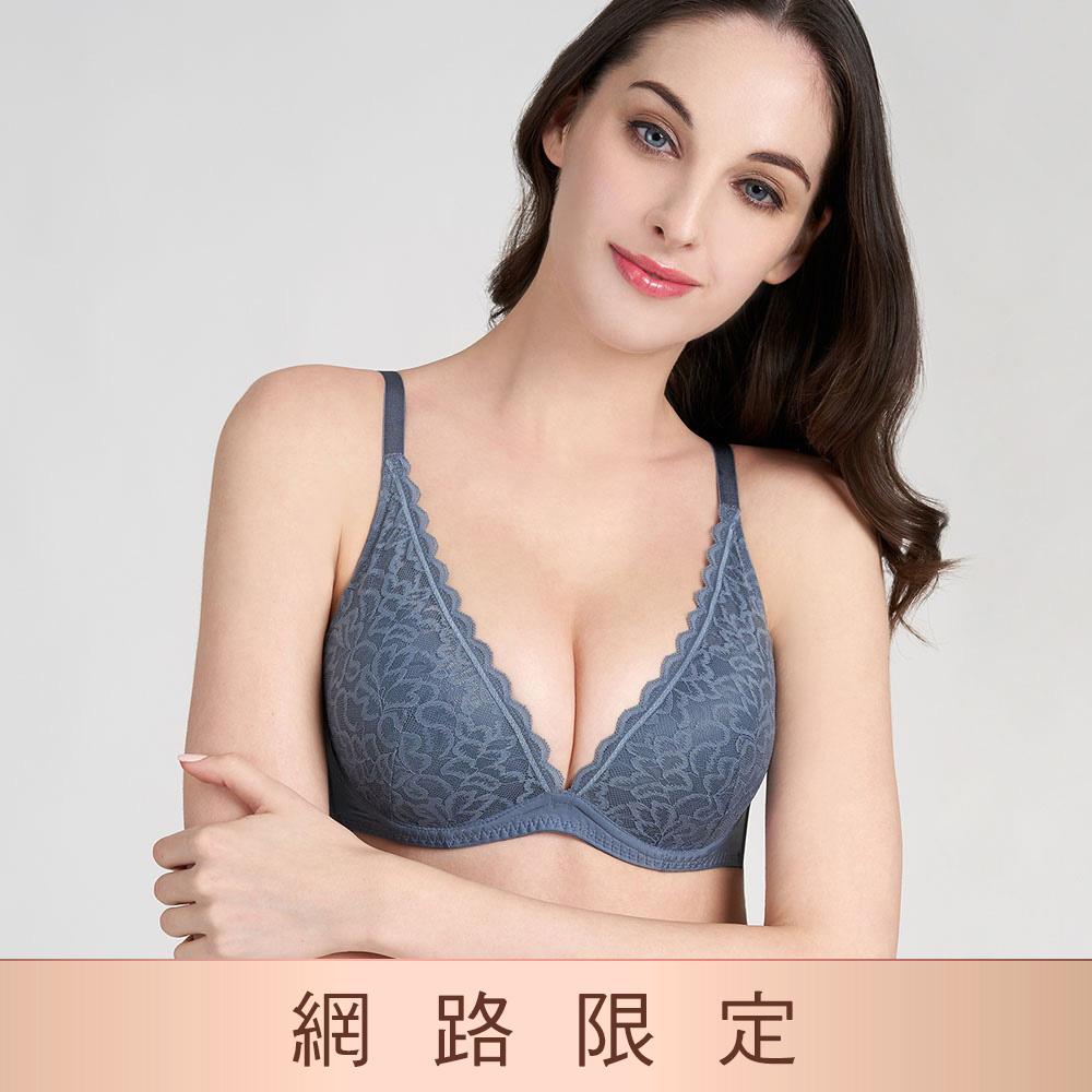 【成套990】黛安芬-時尚嚴選系列 低V托高集中 B-C罩杯內衣 知性灰|E003003 ST