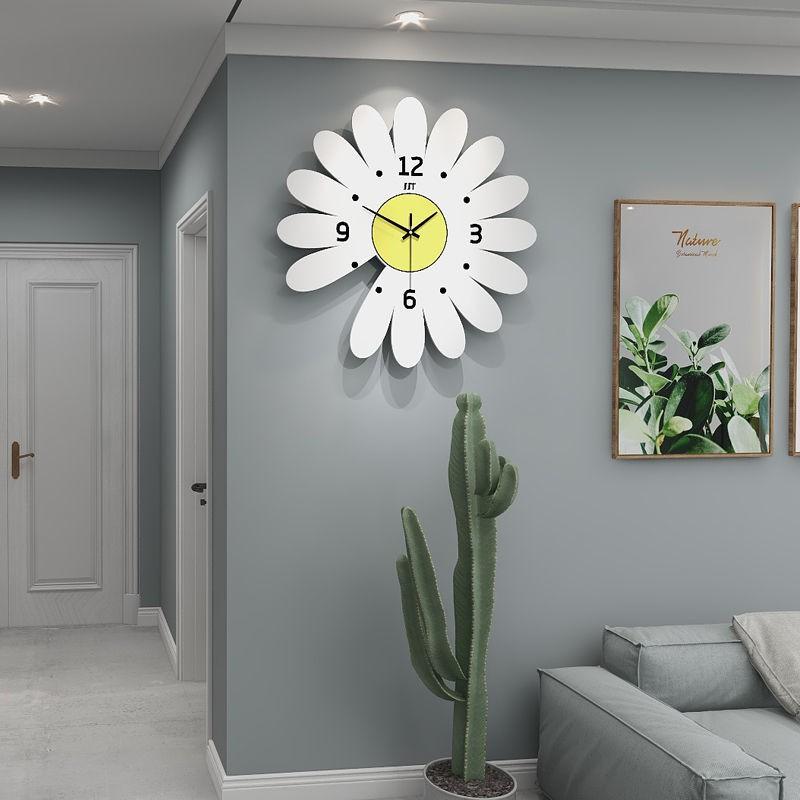 [About Home]網紅掛鐘家用時尚掛表簡約現代客廳時鐘北歐風創意掛墻免打孔鐘表