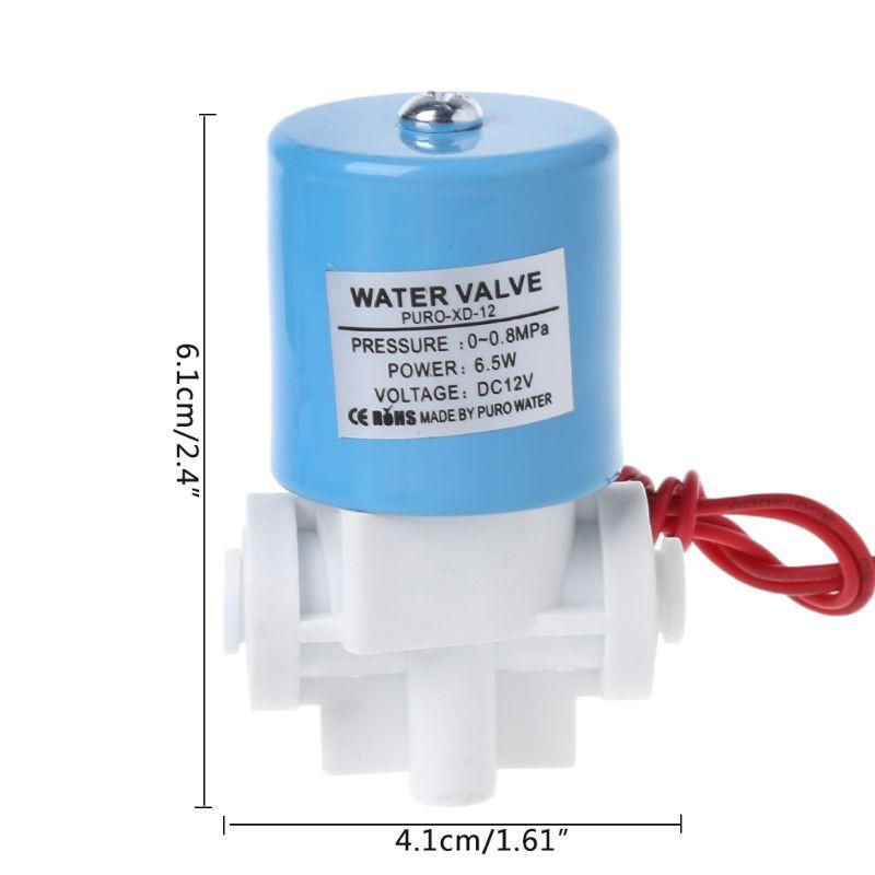 """1/4""""快速連接進水電磁閥家用純水機配件"""