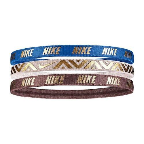 Nike Printed Metallic [NJNG8910OS] 髮帶 髮束 運動 止滑 3入 藍粉棕