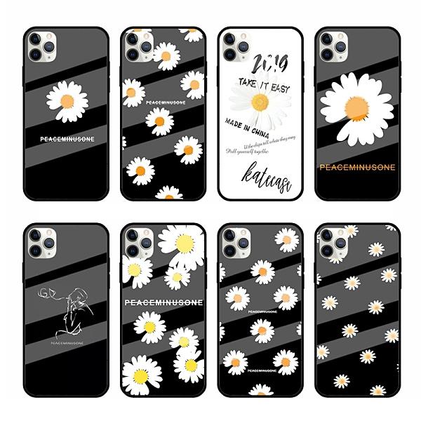 文藝簡約SamSung S21手機套 日韓三星S21保護殼 創意Galaxy S21+保護套 清新小雛菊三星S21 Ultra手機殼