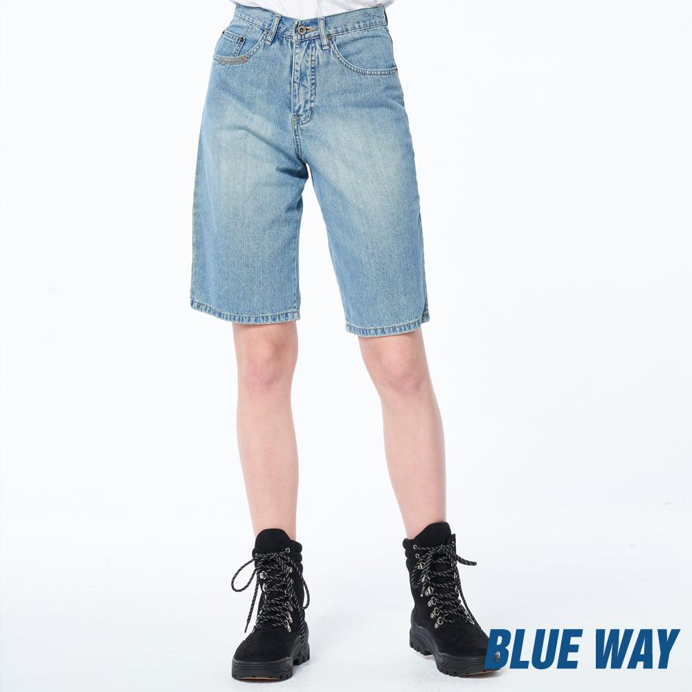 【單一特價】水洗丹寧五分褲- BLUE WAY