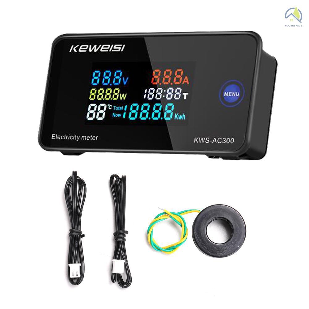數字式智能電錶50-300V電流電壓表KWS-AC300-100A 閉合互感器