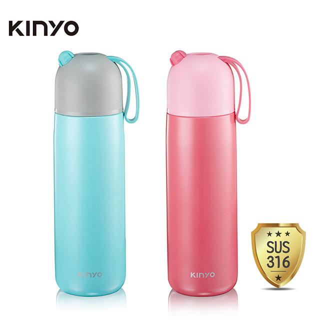 免運 KINYO 316不鏽鋼真空保溫杯(400ml) KIM-39 【3入】