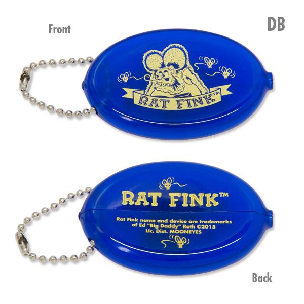 RAT FINK - RAF456 Oval Coin Case 橡膠 零錢包 (DB 藍色)