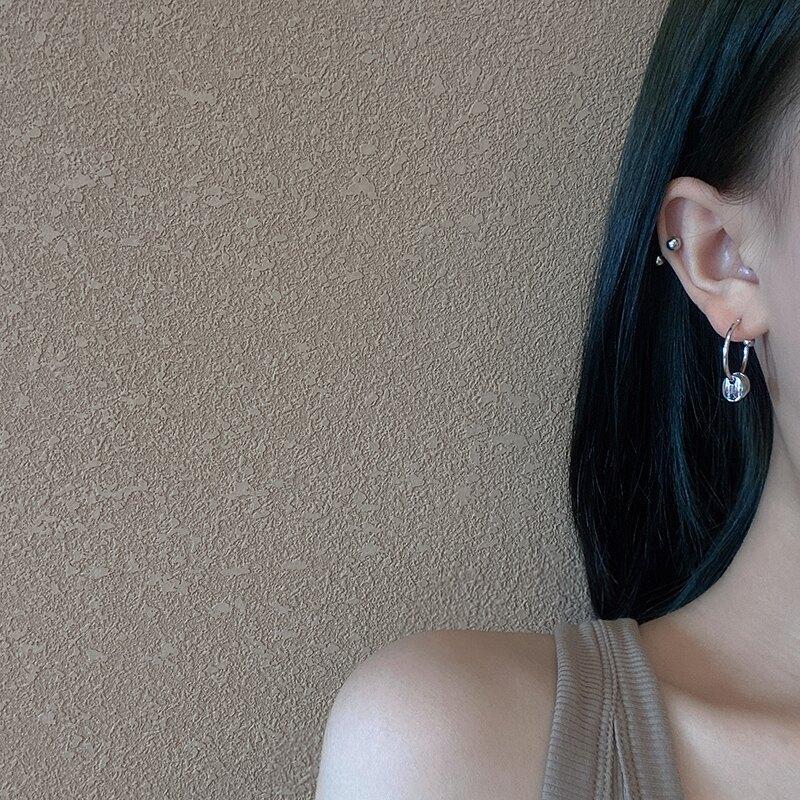 嘻哈鏈條耳環2021年新款潮耳飾個性設計感冷淡風時尚潮流不對稱