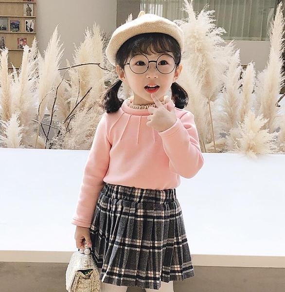 女童上衣 新款秋裝女童上衣兒童裝洋氣純棉保暖高領打底衫冬裝【快速出貨八折鉅惠】