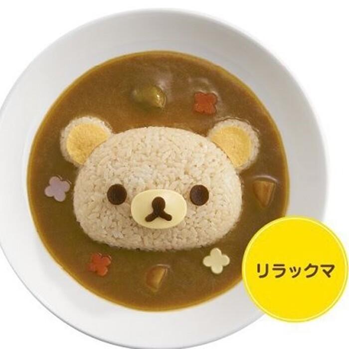 diy熊頭造型咖哩飯模