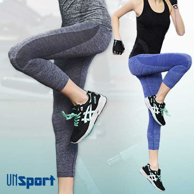 【Un-Sport高機能】高彈力AB紗透氣托肌七分褲(瑜伽/健身/跳舞)