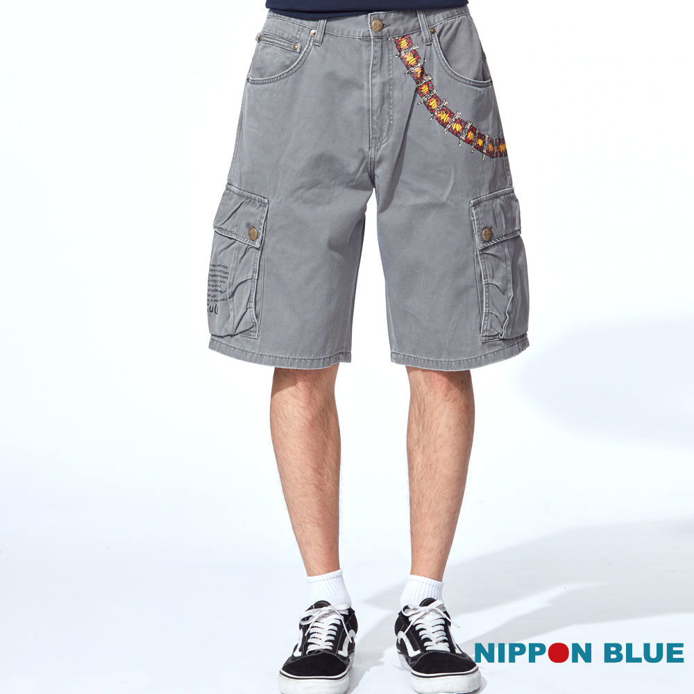 【5折限定 】骷髏子彈短褲(2色)  - BLUE WAY 日本藍