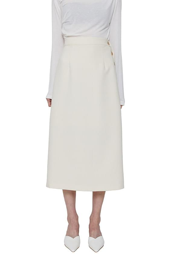 韓國空運 - Modern side button midi skirt 裙子