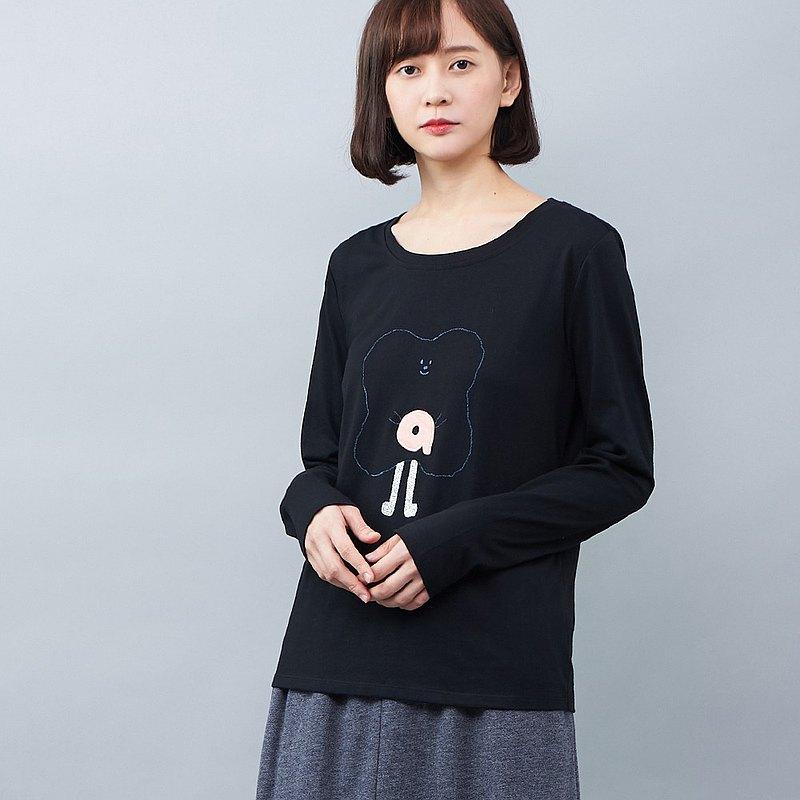 a la sha+a 小+a怪物印花長袖上衣