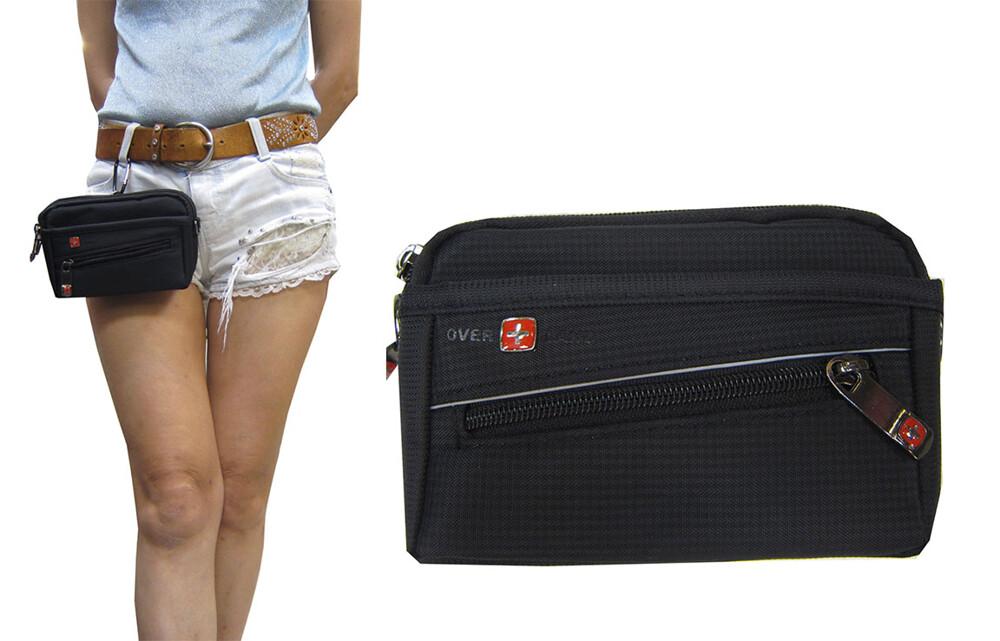 腰包外掛超小容量二層主袋+外袋共四層可5.5寸機防水尼龍布工作可穿過皮帶外掛