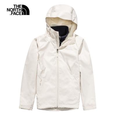 The North Face北面女款米藍色防水透氣三合一外套|4N9WSA6