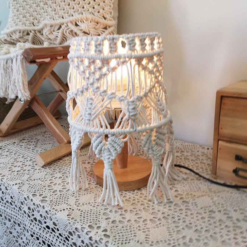 花邊桌燈【Macrame Table Lamp】編號2