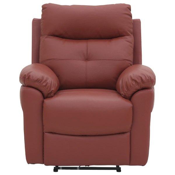 ◎半皮1人用電動可躺式沙發 MEGA RED NITORI宜得利家居