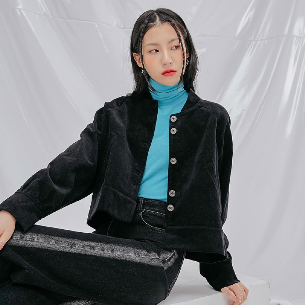 外套 立領排扣口袋質感短外套TK01033-創翊韓都