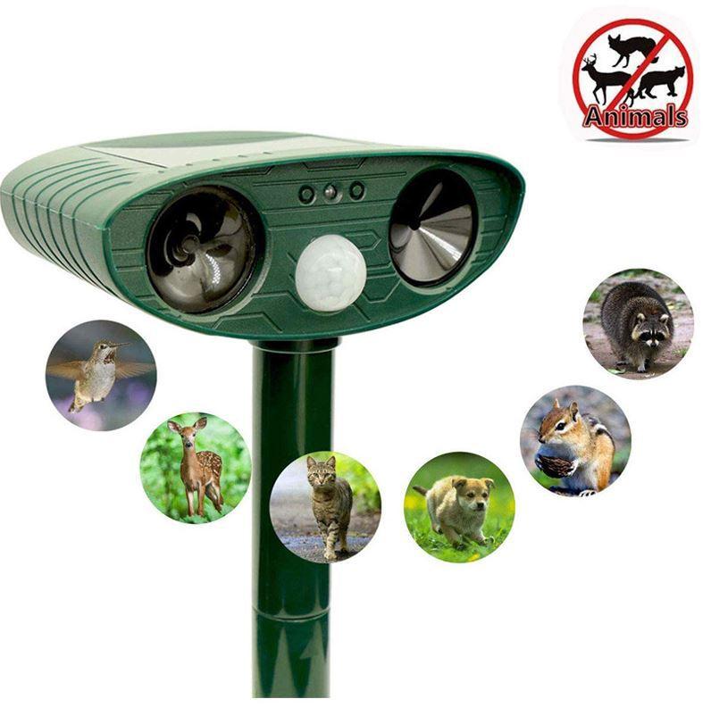 動物驅趕器 新款太陽能動物驅趕器 紅外探測戶外防盜報警器聲波驅狗器驅貓