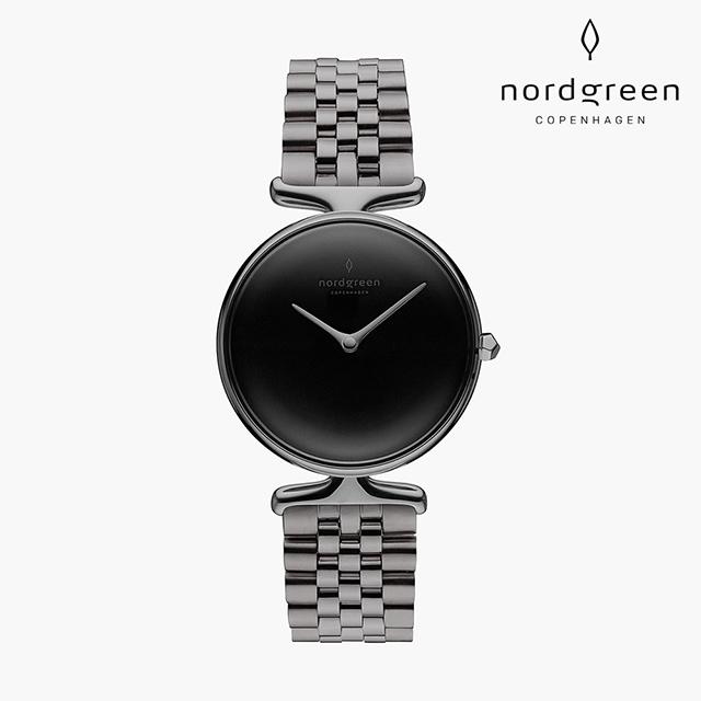 【Nordgreen】Unika  獨特 深空灰系列 深空灰五珠精鋼錶帶手錶 32mm