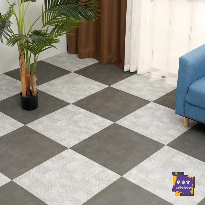 地板贴 pvc地板革加厚耐磨防水泥地直接鋪地膠墊家用地貼塑膠地板貼自黏T 居家装饰