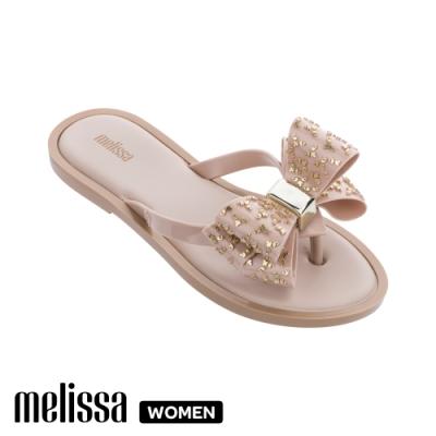 Melissa 閃耀蝴蝶結拖鞋 杏