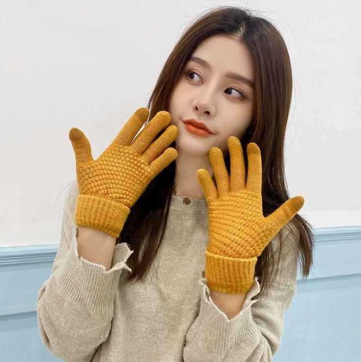 手套/成人保暖手套/兩指觸屏手套/可觸控/觸控手套/觸屏手套/觸控保暖手套/針織手套/毛線手套/針織