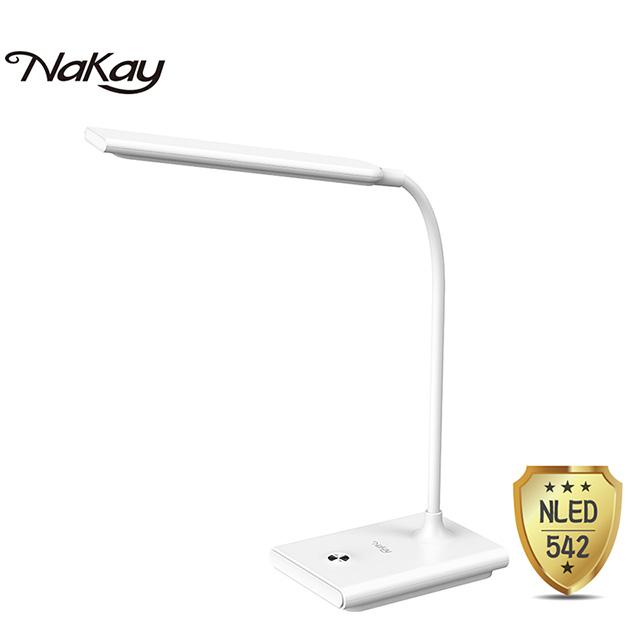 免運 NAKAY 充電式無段調光LED檯燈3000mAh NLED-542 【3入】