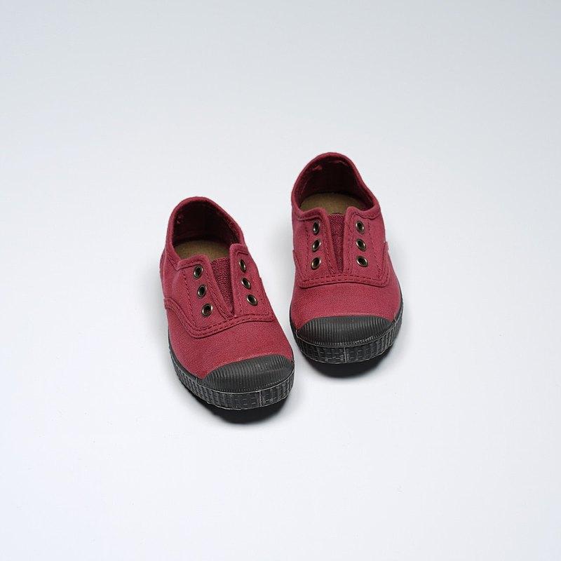 西班牙國民帆布鞋 CIENTA U70997 20 波爾多紅 黑底 經典布料 童鞋