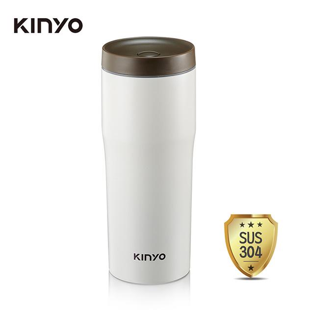 免運 KINYO 內膽304車用保溫杯(480ml) KIM-37 【2入】