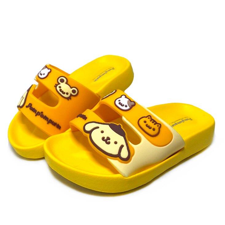【滿額再折$100】Sanrio 三麗鷗 布丁狗兒童立體造型輕量防水拖鞋 [821449] 黃 MIT台灣製造【巷子屋】
