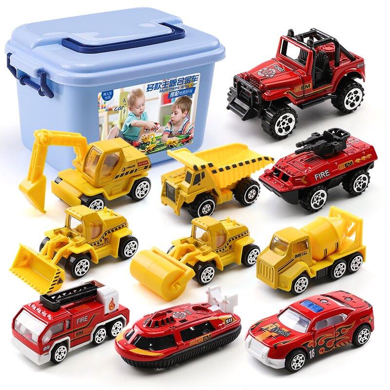 汽車模型 模型車  玩具車小汽車合金車模工程消防套裝各類車3-45歲兒童益智禮物男孩『CM44382』