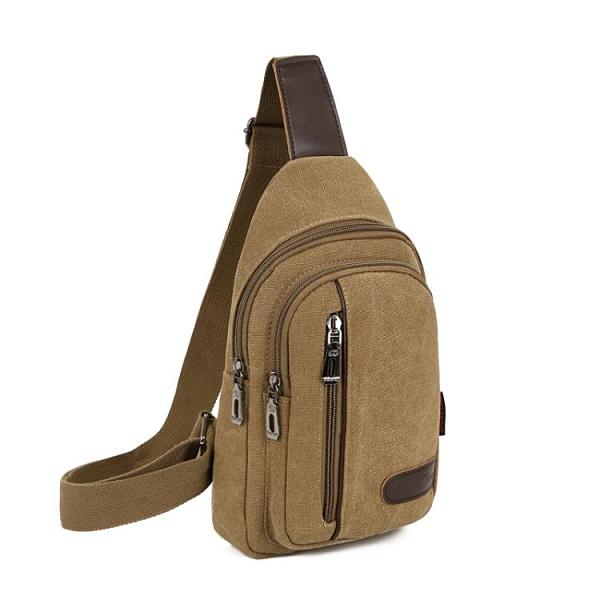 包包2021新款男士胸包帆布包斜挎包男包單肩包韓版小背包休閑腰包 霓裳細軟