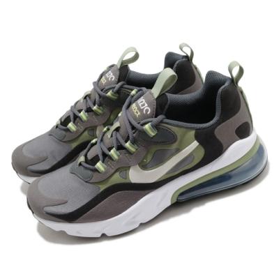 Nike 休閒鞋 Air Max 270 React 女鞋 氣墊 舒適 避震 包覆 大童 穿搭 灰 綠  BQ0103022