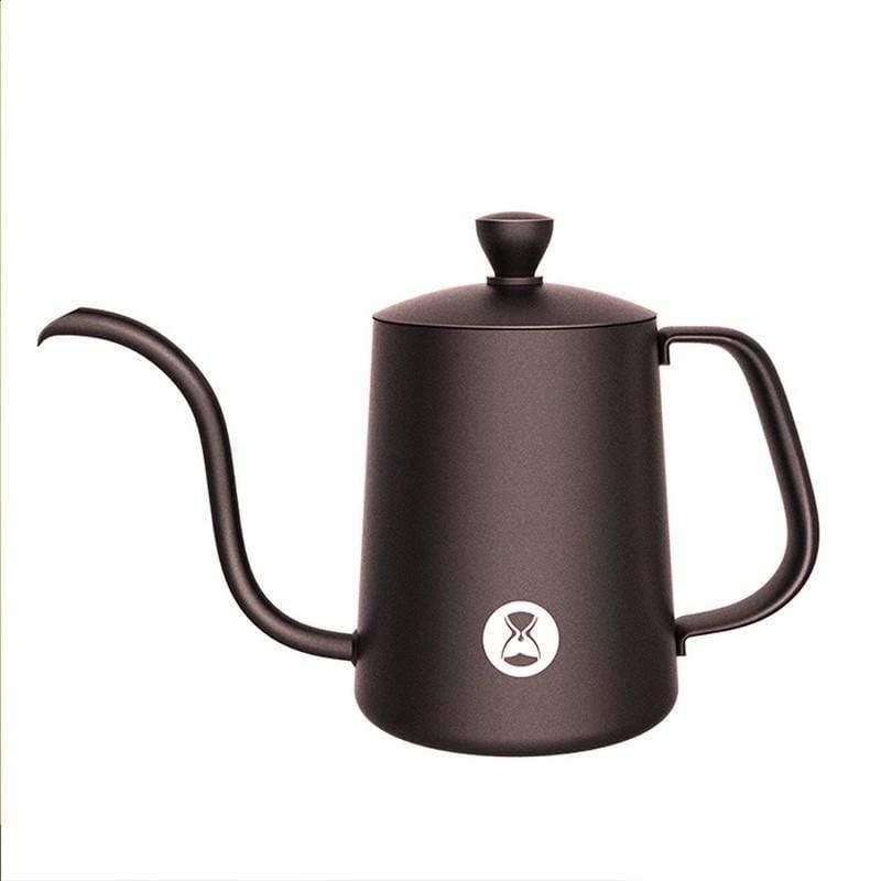 泰摩魚03不鏽鋼咖啡手沖壺細口壺600ml 霧面白