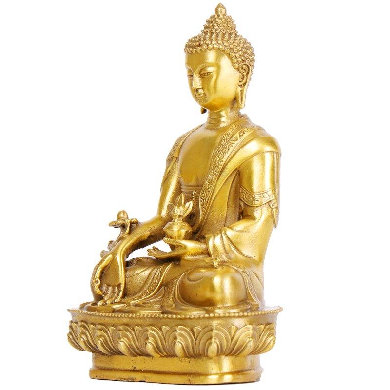 純銅藥師佛藥王菩薩佛像 佛教佛具用品 家居擺件飾品保平安