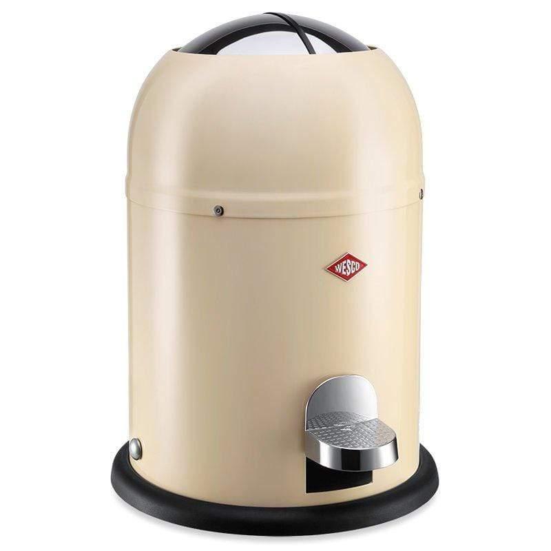 【WESCO】騎士桶/腳踏式垃圾桶6L-杏色