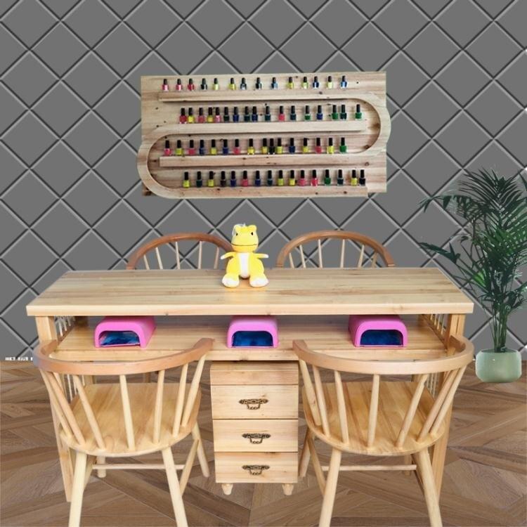 美甲桌 歐式實木美甲桌椅套裝經濟型單雙人美甲台指甲桌時尚公主椅 閒庭美家