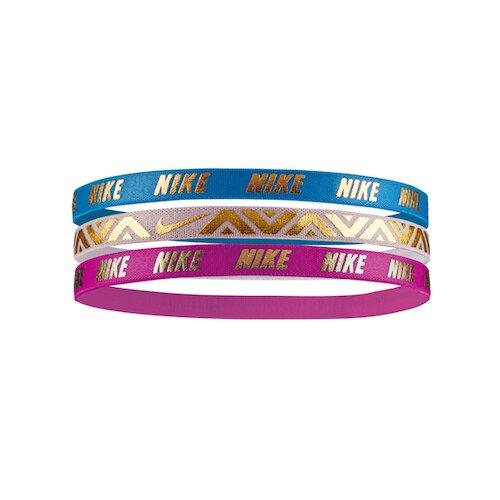 Nike Printed Metallic [NJNG8457OS] 髮帶 髮束 運動 止滑 3入 藍粉紫
