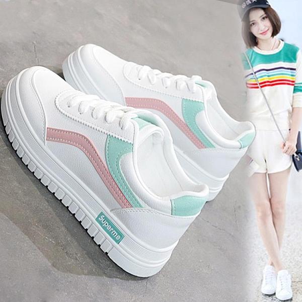 小白鞋 新款基礎小白鞋女韓版百搭學生鞋跑步休閒板鞋chic街拍鞋【快速出貨】
