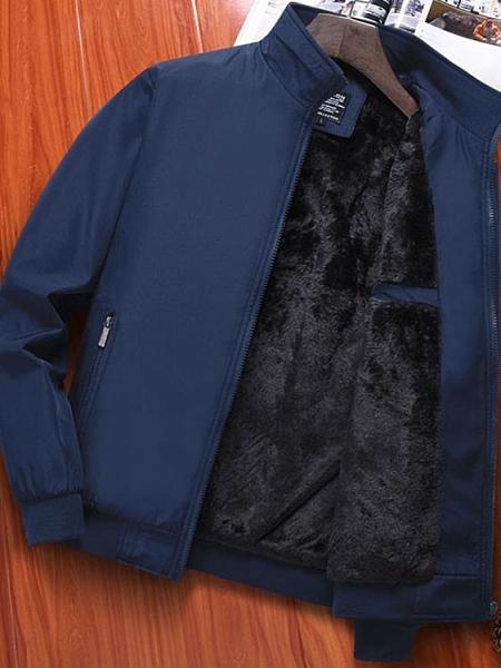 夾克 爸爸冬裝外套中年男裝中老年男士夾克秋冬款冬季加絨加厚秋裝上衣 非凡小鋪