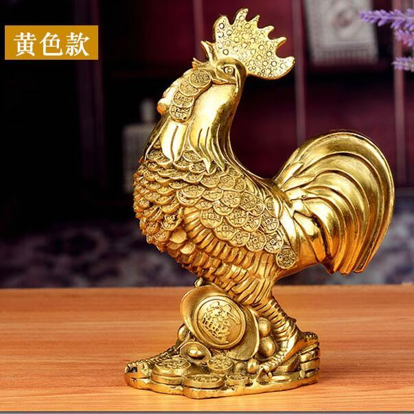 風水閣銅公雞純銅金錢雞金雞擺件家居臥室裝飾品招財鎮宅客廳擺件